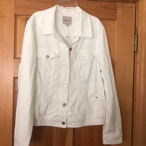 Liverpool white soft jean jacket